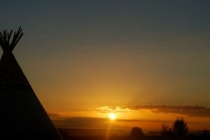 Sunrise-At-Glamping-Tipis-France